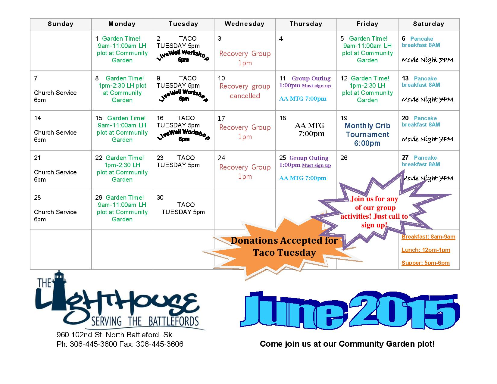 June Calendar Events : June event page